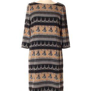 Max Mara Weekend Camel Tassel Print Meana Dress